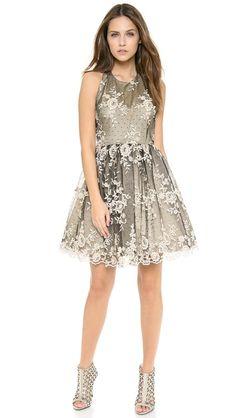 alice + olivia Betrice Halter Party Dress cute back!