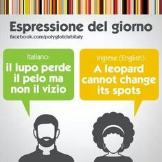 Learning Italian Language ~ A leopard cannot change it's spots. IFHN