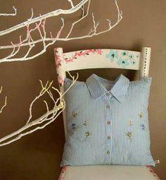 Cojin con camisa vieja
