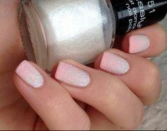nail art sand style Inspiration pastell rose white