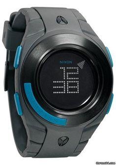 Nixon The Outsider Drab digital watch $234 #watch #watches black plastic bracelet