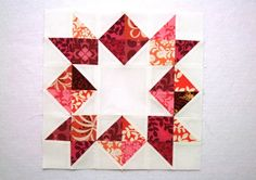 "Love in a Mist quilt block. This is beautiful too with monochromatic color scheme instead of scraps. 12.5"" finished block."