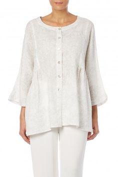 Sahara Art Nouveau Linen Shirt