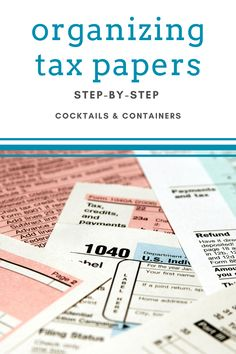 Since tax season is here, I want to give you an easy, paper organizing system that can help you organize your tax paperwork for this year and years to come. From income to donations and medical deduction to taxes paid, my tax box has you covered. Home Organization Hacks, Paper Organization, Organizing, Home Filing System, Student Loan Interest, Tax Preparation, Deduction, Income Tax, Cocktail Glass