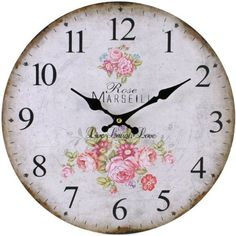 Vintage Rustic French Country Style Rose Flower Wall Clock Kitchen Shabby Chic Something Different,http://www.amazon.co.uk/dp/B00IZC8JQ2/ref=cm_sw_r_pi_dp_YFGDtb0W1BG27KMY