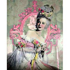 Marie Antoinette vintage photomontage digital art by VoogsArt Photomontage, Marie Antoinette, Vintage Prints, Vintage Floral, Vintage Silver, Baroque, Rococo, Art Mural, Wall Art