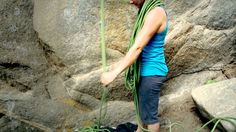 Rock Climbing Basics: How to Coil and Carry a Rope - butterfly, over the shoulders method, and backpack carry