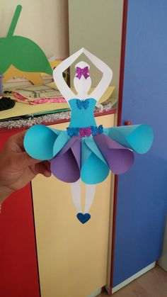 Paper ballerina craft