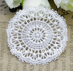 100pcs DIY hair clothing accessories water soluble lace 4.8cm white flower lace trim trimming garment decoration free shipping
