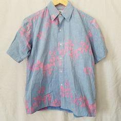 Vintage 80's Reyn Spooner Men's Medium Hawaiian Blue Pink Hibiscus Floral Shirt | Clothing, Shoes & Accessories, Men's Clothing, Casual Shirts | eBay!