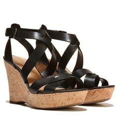Franco Sarto Sophie 2 Wedge Sandal Black