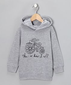 Put the pedal to the metal with this cozy cotton hoodie that features a warm, comfy fit and a cute cartoon drawing across the front. Because that's just how little ones roll.60% cotton / 40% polyesterMachine washImported