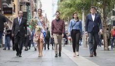 Grupo Mascarada Carnaval: La candidata Laura Rodríguez visita McDonald's y L...