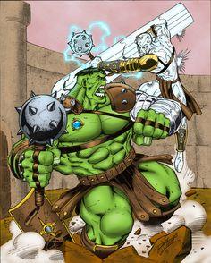 Surfer d'argent vs hulk