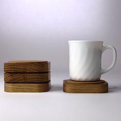 oak'n'cork cupmatt. made from salvaged oak and 3mm cork. - igma