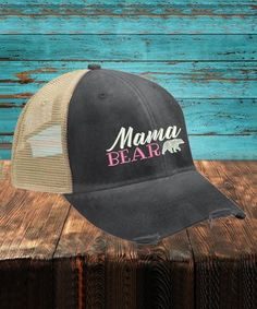0cc2914b2511a Take a look at this Black  Mama Bear  Trucker Hat today!