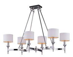 Maxim 22376 Fairmont 6 Light 1 Tier Candle Style Chandelier Polished Nickel Indoor Lighting Chandeliers