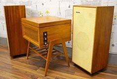 Vintage Dynatron Cavalcade Record Player Garrard AT6 Turntable Speakers | eBay