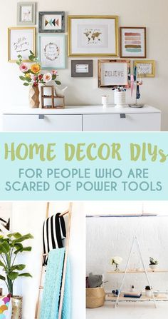 23 Home Decor DIYs For People Who Are Scared Of Power Tools | BuzzFeed | For the record, I'm not scared, just too cheap to buy them