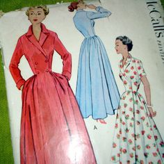 Vintage Sewing Pattern McCalls 9082 Double by SelvedgeShop Retro Outfits, Vintage Outfits, Vintage Fashion, Vintage Clothing, Sundress Pattern, Dress Patterns, Mccalls Sewing Patterns, Vintage Sewing Patterns, Daytime Dresses