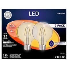 General Electric - Led - 40W - 2pk - Soft White