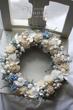 貝殻とパールのリース