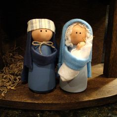 Nativity Set - 11 Pieces Including Handcrafted Stable - Ready to Ship
