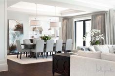 DINING RM LIGHTING & CEILING DETAIL ---------------------------------------------------------Elegant dining room - Kelly Deck Design