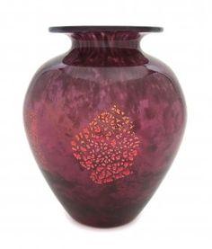 Daum Art Deco Glass Vase