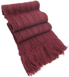 Handmade Lightweight Alpaca Wool Scarf - Light Wine (Ships from France) ** Check out this great product.