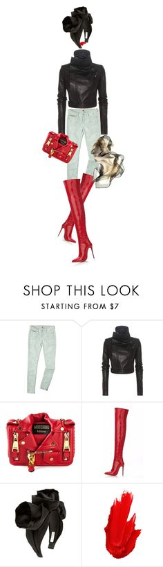 """IT!"" by maria-laura-correa-da-silva ❤ liked on Polyvore featuring Tommy Hilfiger, Rick Owens, Moschino, Jennifer Behr, Maybelline and Danier"