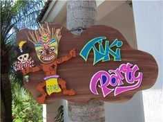 Custom Tropical Tiki Party Wood Sign by DreamCreationsArt on Etsy