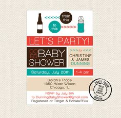 Mustache CoEd Baby Shower Invitations Digital By PaperTalesCustom, $20.00 | Baby  Shower Ideas | Pinterest | Coed, Ed And Invitationu0027
