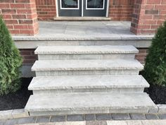 Action Home Services is an experienced flagstone contractor in Toronto & the GTA. We provide flagstone design & installation, pool coping, and flagstone repair. Front Porch Steps, Front Stairs, House Front Porch, Patio Steps, Front Walkway, Side Porch, House Entrance, Outdoor Stone Steps, Concrete Front Steps