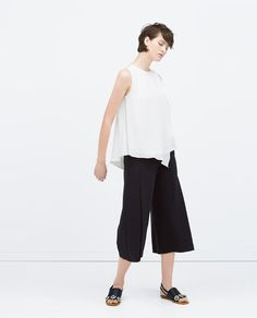 ZARA - WOMAN - COMBINED TOP WITH STRIPED APPLIQUE
