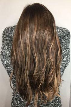 Brown Hair and Blonde Balayage