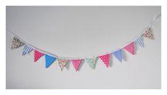 Mini banderines rosa + turquesa + menta