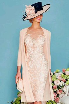 Veni infantino short embellished dress with chiffon coat 008878 - Catherines of Partick Mother Of Bride Outfits, Mother Of Groom Dresses, Mothers Dresses, Mother Of The Bride, Evening Party Gowns, Evening Dresses, Pretty Dresses, Beautiful Dresses, Vestidos Mob