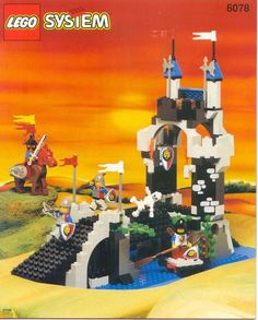 Thousands of complete step-by-step printable older LEGO® instructions for free. Here you can find step by step instructions for most LEGO® sets. Big Lego, Cool Lego, Best Lego Sets Ever, Lego Vintage, Chateau Lego, Old Lego Sets, Instructions Lego, Lego Knights, Classic Lego