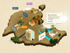 Free Photoshop actions 3D Map
