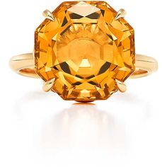 Tiffany Sparklers Octagonal Citrine Ring (2,275 CAD) ❤ liked on Polyvore featuring jewelry, rings, 18k jewelry, 18k ring, octagon ring, citrine jewelry and 18 karat gold jewelry
