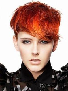 Orange short hair