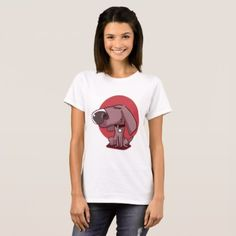 big nose funny dog cartoon T-Shirt - drawing sketch design graphic draw personalize
