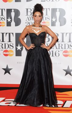 Lianna La Havas. Brit Awards red carpet on Feb. 24, 2016 in London.