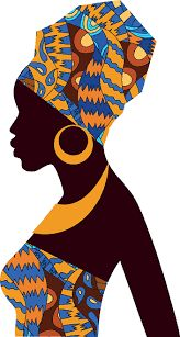 Silhouette of African girls in bright colored turban - Royalty-free Afrika kültürü Vector Art Black Art, Black Women Art, Art Women, African Girl, African American Art, African Violet, African Colors, African Women, Art And Illustration