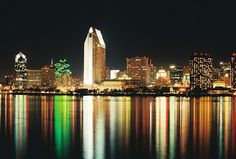 Looking at the San Diego skyline from Coronado