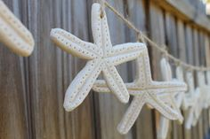 Salt dough is a great medium for making these realistic-looking starfish. We decided to hang them on a piece of jute to make a really cute garland for our daughter's nautical-themed Sweet 16 party.
