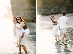 The simplicity of this casual engagement photography in Canggu beach creates a blissfully romantic ambiance. While we heart formal engagement sessions, with long white gowns, I also adore the day-to-day magic of just being in love in casualty. #baliweddingphotography #romantic #engagement #prewedding #inspiration #bali #filmphotography #contax645 #beach #sunset