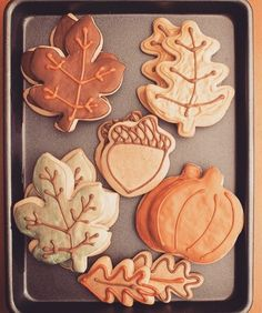 Adorable fall cookies