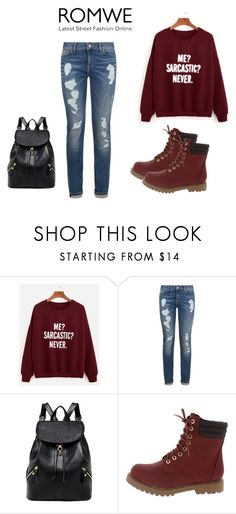 """romwe"" by gongo998 ❤ liked on Polyvore featuring Tommy Hilfiger"